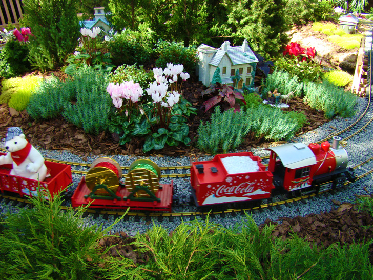 Atlanta Botanical Garden Orchid Center Coke Train