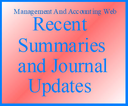 MAAW's Recent Summaries and Journal Updates