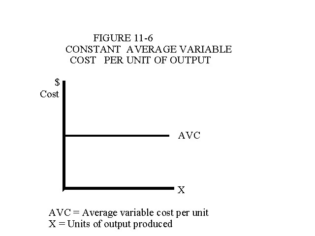 Constant Average Variable Cost Per Unit of Output